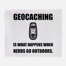 Geocaching Nerds Throw Blanket
