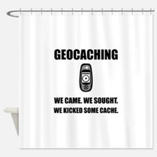 Geocaching Kicked Cache Shower Curtain