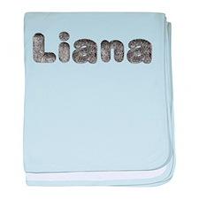 Liana Wolf baby blanket