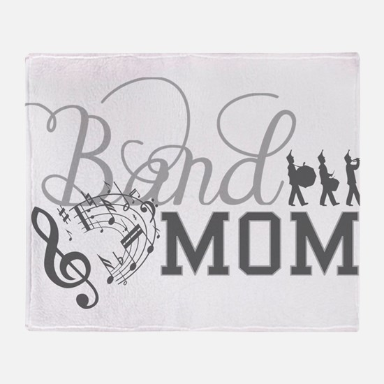 Band Mom Throw Blanket