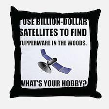 GeoCache Satellites Throw Pillow