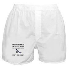 GeoCache Satellites Boxer Shorts