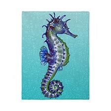Seahorse Blue Twin Duvet