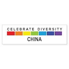 CHINA - Celebrate Diversity Bumper Bumper Sticker