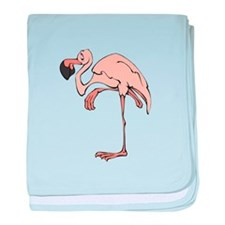Flamingo Pink baby blanket