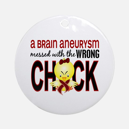 Brain Aneurysm MessedWithWrongChi Ornament (Round)