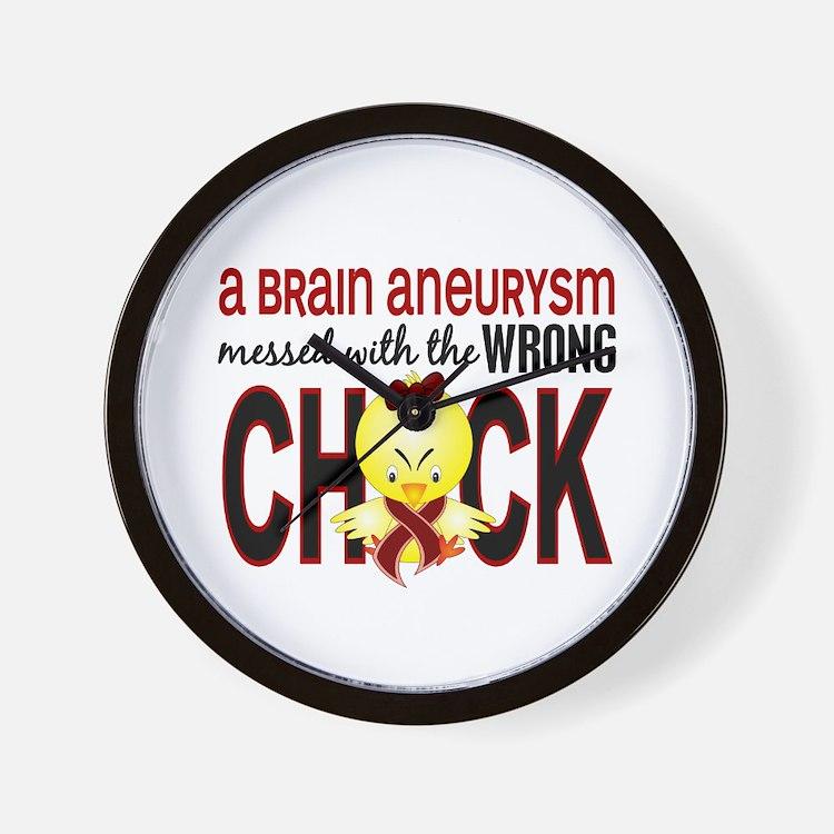 Brain Aneurysm MessedWithWrongChick1 Wall Clock