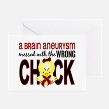 Brain Aneurysm MessedWithWrongChick1 Greeting Card