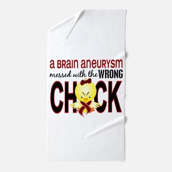 Brain Aneurysm MessedWithWrongChick1 Beach Towel