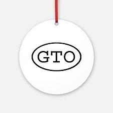 GTO Oval Ornament (Round)