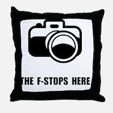F Stop Throw Pillow