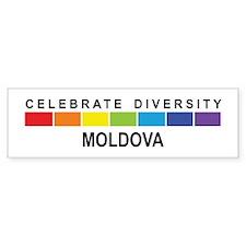 MOLDOVA - Celebrate Diversity Bumper Bumper Sticker