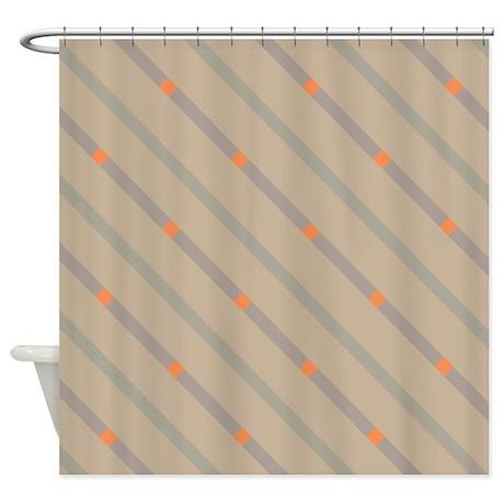 Melrose Orange Shower Curtain By TheShowerCurtainCenter