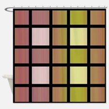 Stained Glass Look Shower Curtain