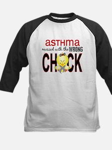 Asthma MessedWithWrongChick1 Kids Baseball Jersey