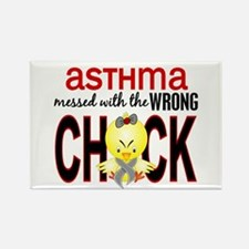 Asthma MessedWithWrongChick1 Rectangle Magnet