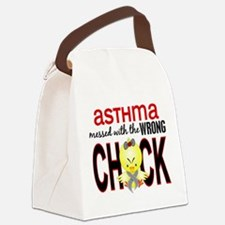 Asthma MessedWithWrongChick1 Canvas Lunch Bag