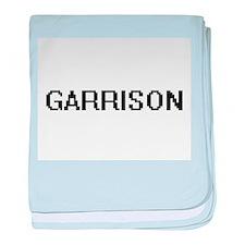 Garrison digital retro design baby blanket