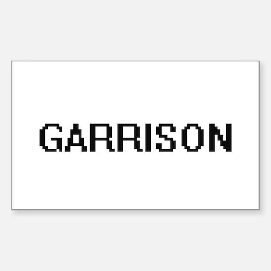 Garrison digital retro design Decal