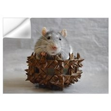 Little Rat in Basket Wall Decal