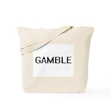 Gamble digital retro design Tote Bag