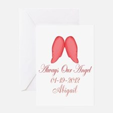 Pink Always Our Angel Greeting Cards