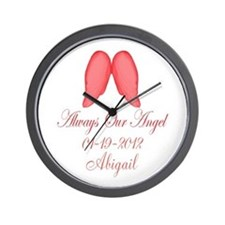 Pink Always Our Angel Wall Clock