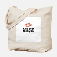 Kiss Your Firefighter Tote Bag