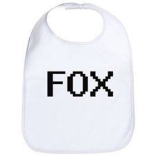 Fox digital retro design Bib
