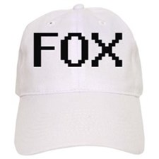 Fox digital retro design Baseball Cap