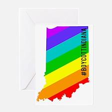 Boycott Indiana #BoycottIndiana Greeting Card