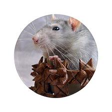 Little Rat in Basket Button