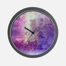Abstract in Purples and Green Wall Clock