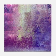 Abstract in Purples and Green Tile Coaster
