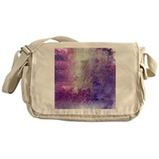 Abstract in Purples and Green Messenger Bag