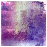 Abstract in purple Wrapped Canvas Art