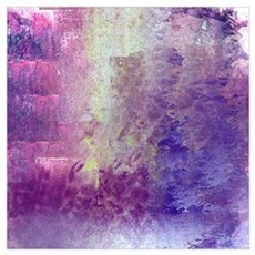 Abstract in Purples and Green Framed Print