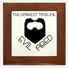 The Darkest Timeline Framed Tile