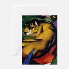 The Tiger by Franz Marc Greeting Card