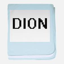Dion digital retro design baby blanket