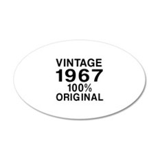 Vintage 1967 Birthday Design Wall Decal