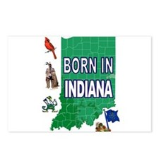 INDIANA BORN Postcards (Package of 8)