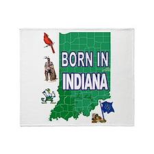 INDIANA BORN Throw Blanket