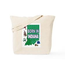 INDIANA BORN Tote Bag