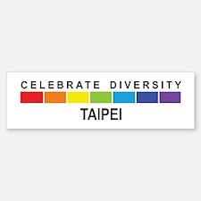 TAIPEI - Celebrate Diversity Bumper Bumper Bumper Sticker