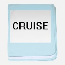 Cruise digital retro design baby blanket
