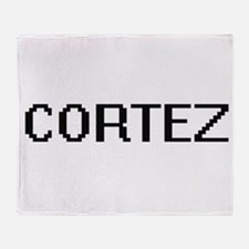 Cortez digital retro design Throw Blanket
