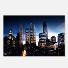 City Skyline at Night Postcards (Package of 8)