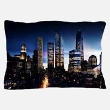 City Skyline at Night Pillow Case