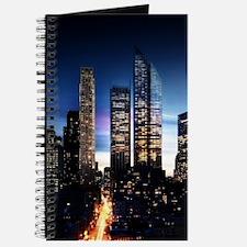 City Skyline at Night Journal